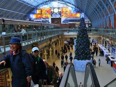 St Pancras International Christmas